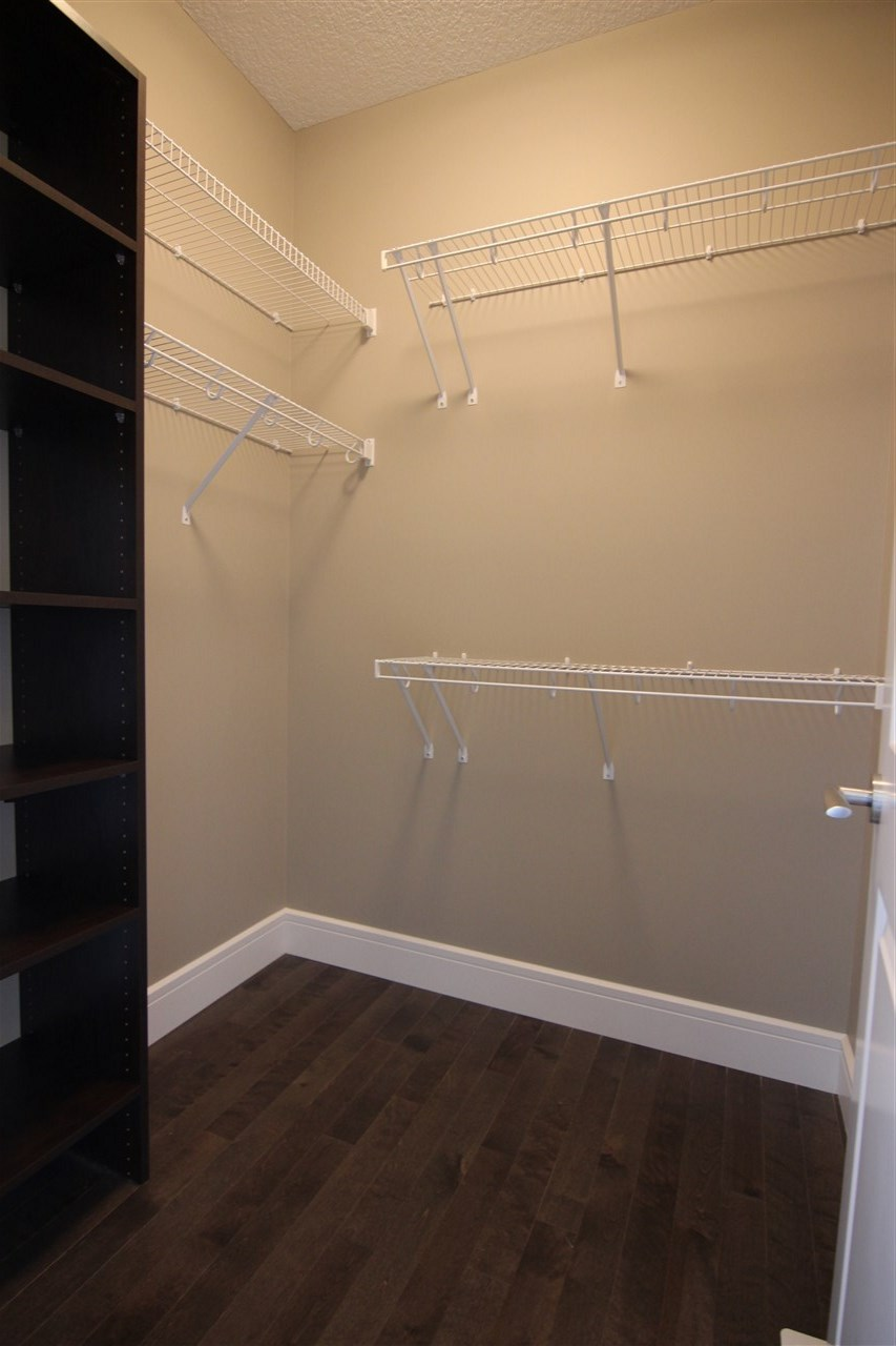 There are two coat closets, one by the main door and this walk-in closet by the garage entrance.