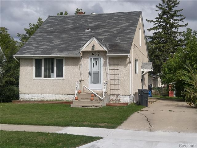 Main Photo: 667 Manhattan Avenue in Winnipeg: East Elmwood Residential for sale (3B)  : MLS(r) # 1624621