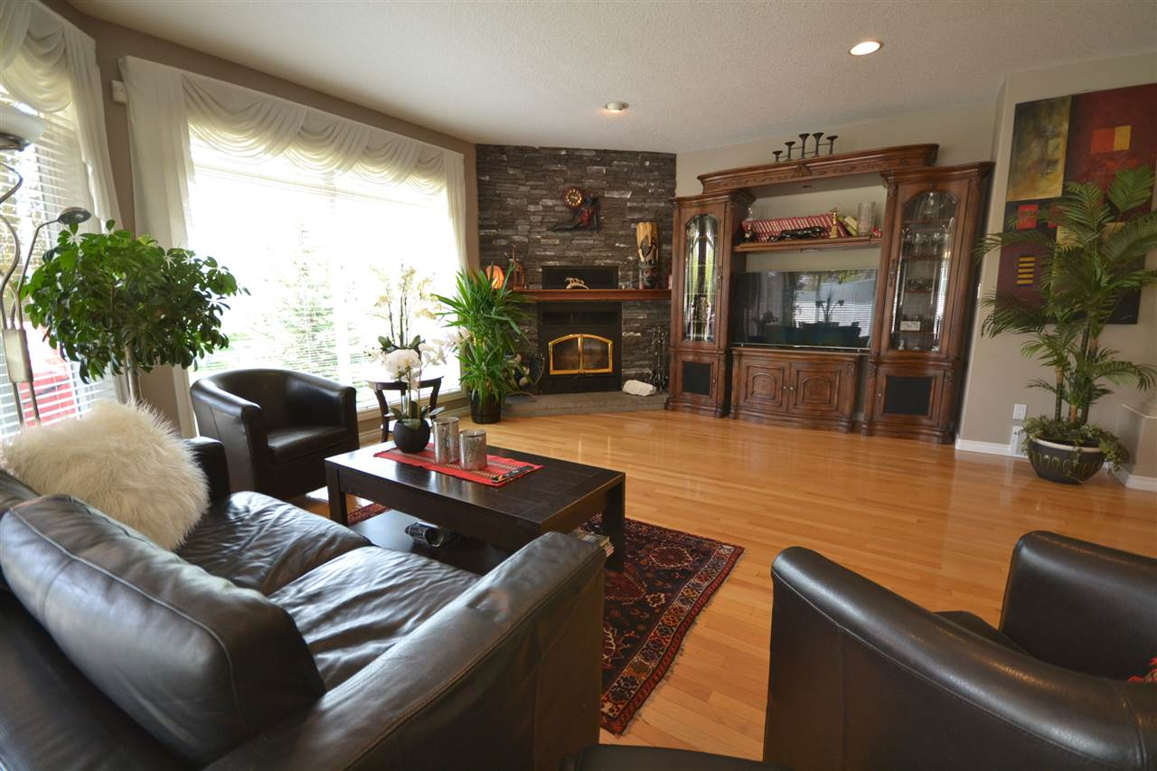 Gleaming hardwood, floor to ceiling windows, recessed lights, wood stove.