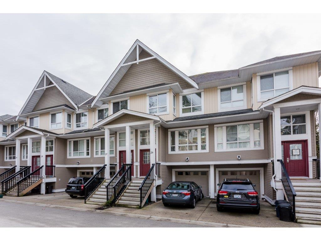 "Main Photo: 26 20159 68 Avenue in Langley: Willoughby Heights Townhouse for sale in ""VANTAGE"" : MLS®# R2133104"
