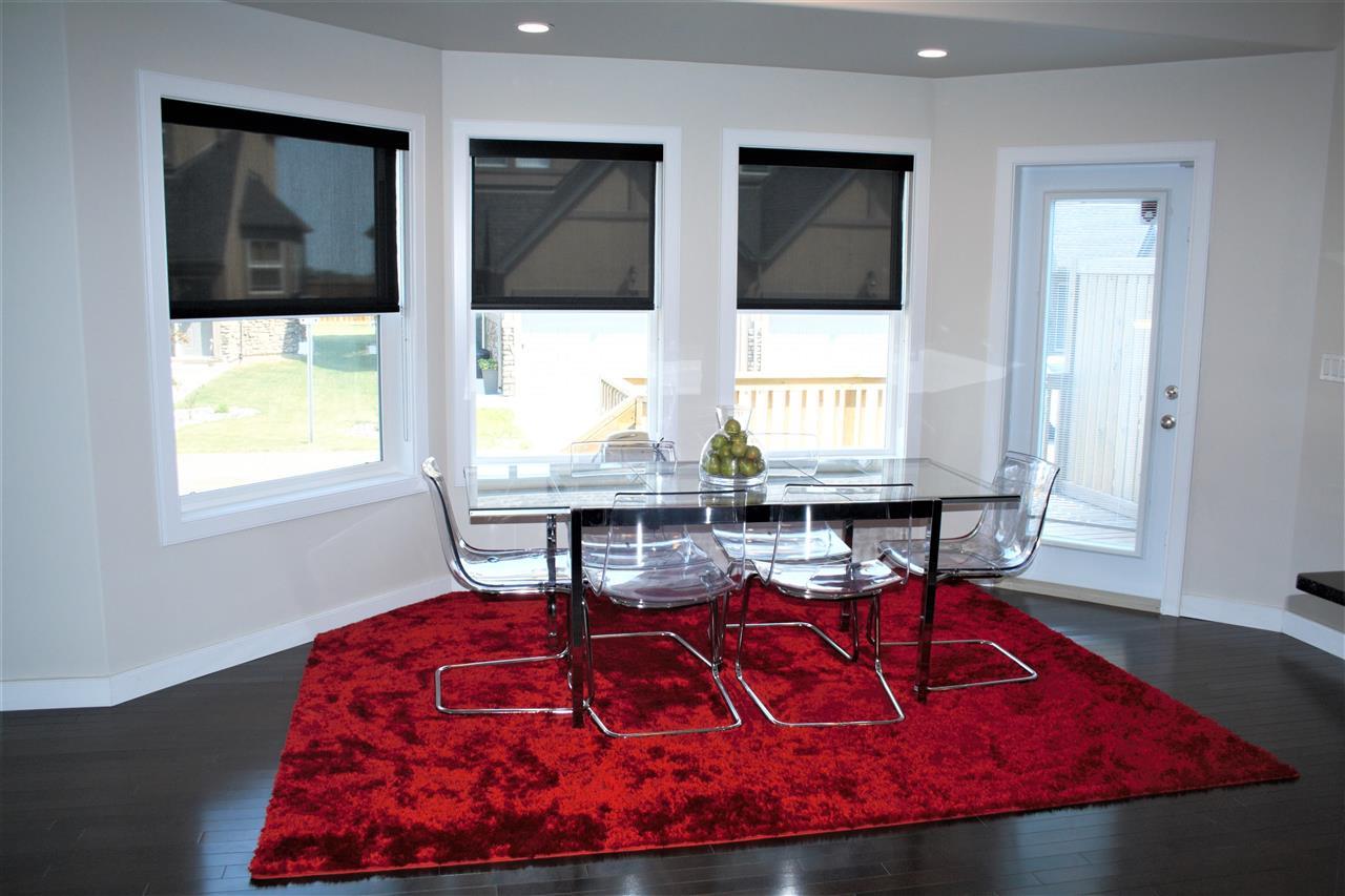 Dining room with new gleaming hardwood floors vision pointe homes - 19 1720 Garnett Point In Edmonton Zone 58 House Half Duplex For Sale Mls E4075984