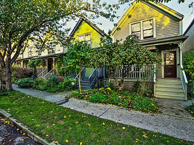 Main Photo: 516 HAWKS Avenue in Vancouver: Mount Pleasant VE House for sale (Vancouver East)  : MLS® # V1093437