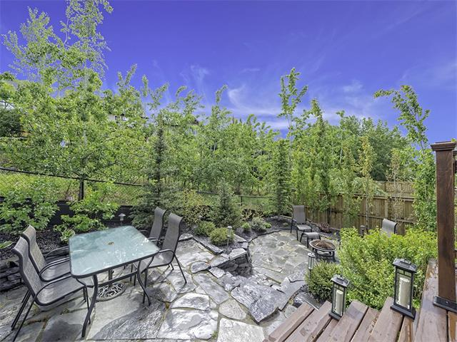 Private oasis like backyard backing onto green belt allowing for ultimate privacy.