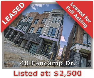 Main Photo: 40 Fancamp Drive in Vaughan: Patterson Freehold for sale
