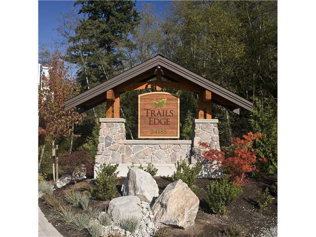 "Main Photo: 91 24185 106B Avenue in Maple Ridge: Albion Townhouse for sale in ""TRAILS EDGE"" : MLS®# V872113"