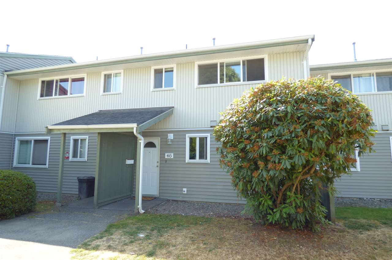 Main Photo: 46 45185 WOLFE Road in Chilliwack: Chilliwack W Young-Well Townhouse for sale : MLS® # R2196507