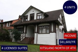 Main Photo: 2526 W 3RD Avenue in Vancouver: Kitsilano House for sale (Vancouver West)  : MLS® # R2236312