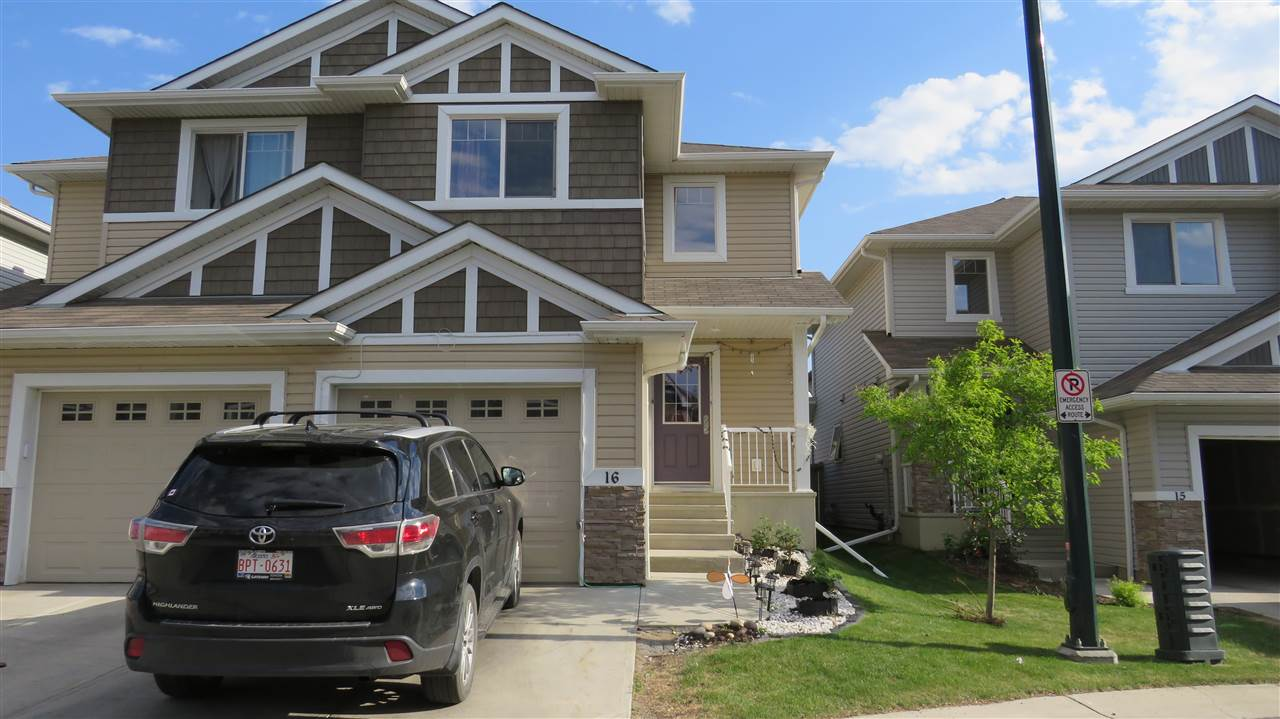Main Photo: 16 655 TAMARACK Road in Edmonton: Zone 30 House Half Duplex for sale : MLS®# E4112699