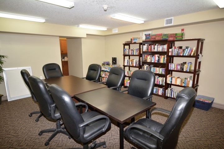There is even a meeting room and library for any meetings you may need to have.