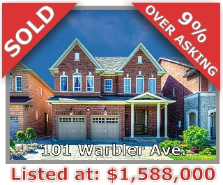 Main Photo: 101 Warbler Ave in Vaughan: Patterson Freehold for sale