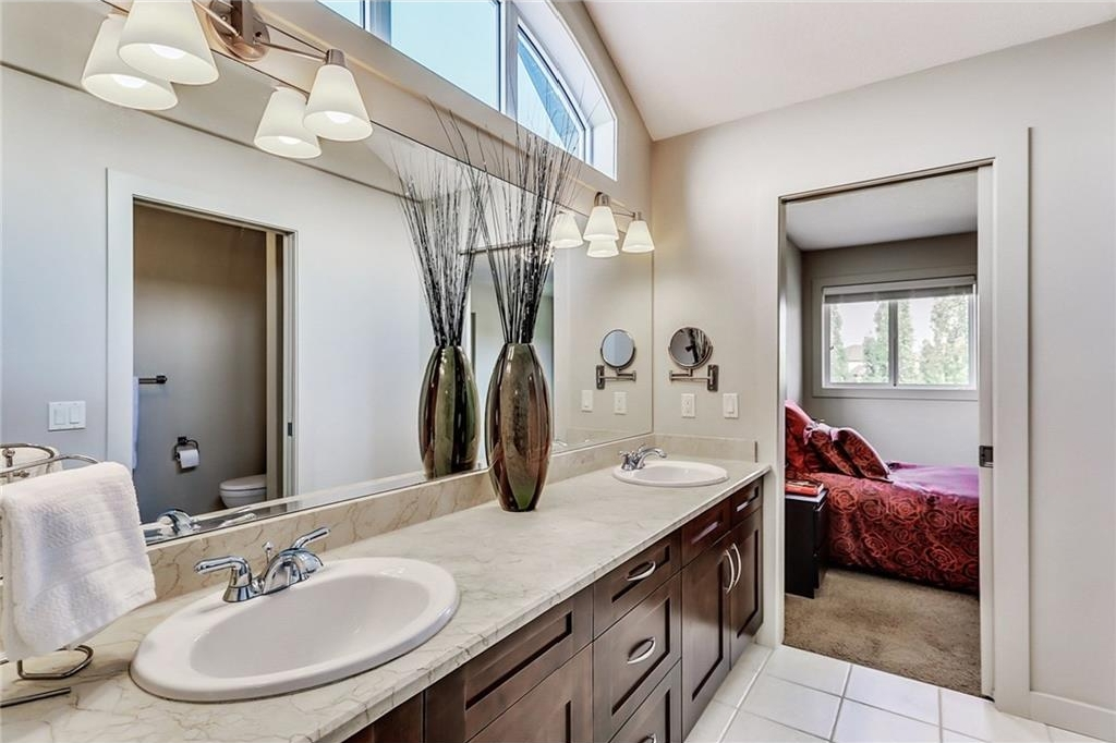 "Large ""Jack and Jill"" ensuite bath connecting the two upstairs bedrooms!"