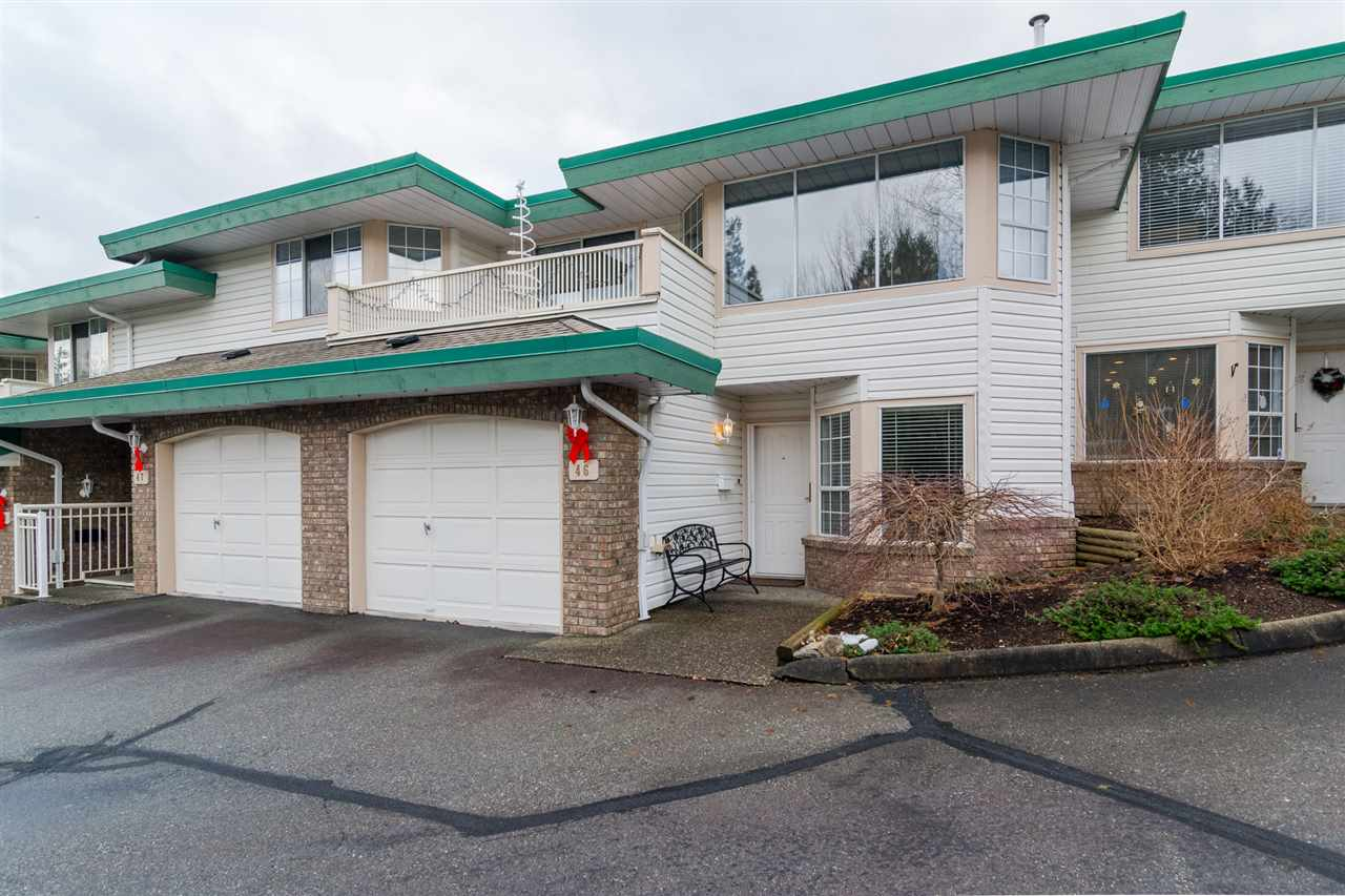 "Main Photo: 46 3115 TRAFALGAR Street in Abbotsford: Central Abbotsford Townhouse for sale in ""CEDARBROOK VILLAGE"" : MLS® # R2140999"