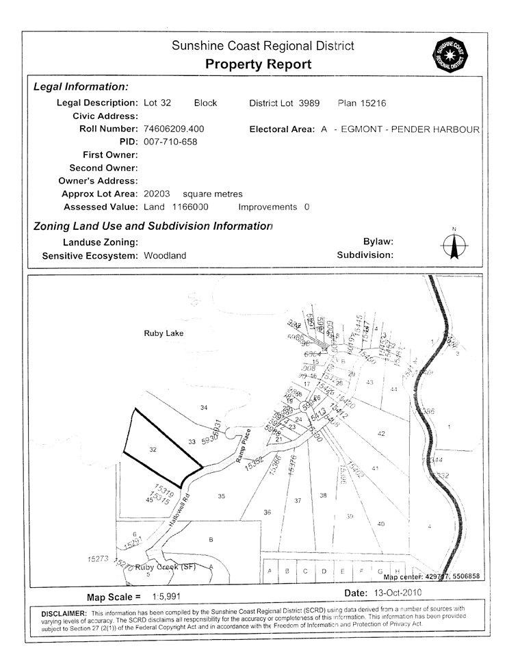 "Photo 10: Photos: LOT 32 HALLOWELL Road in Pender Harbour: Pender Harbour Egmont Home for sale in ""RUBY LAKE"" (Sunshine Coast)  : MLS® # R2132619"