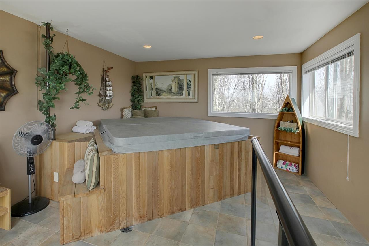 This is your private hot tub room off the master bedroom. There are stairs from this room leading to the garage & deck.