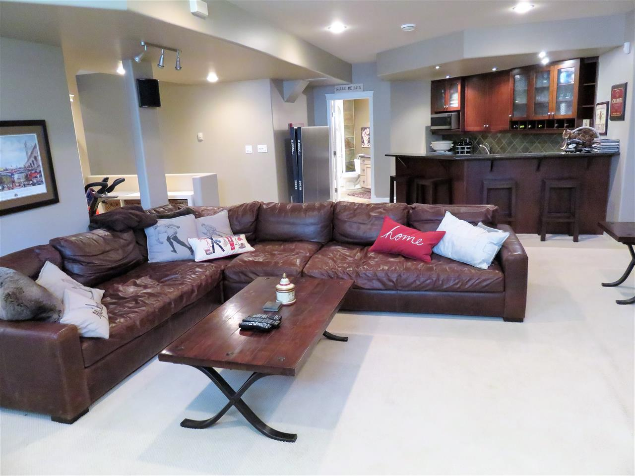 Another view of the beautiful basement Family Room & The huge wet Bar! :)