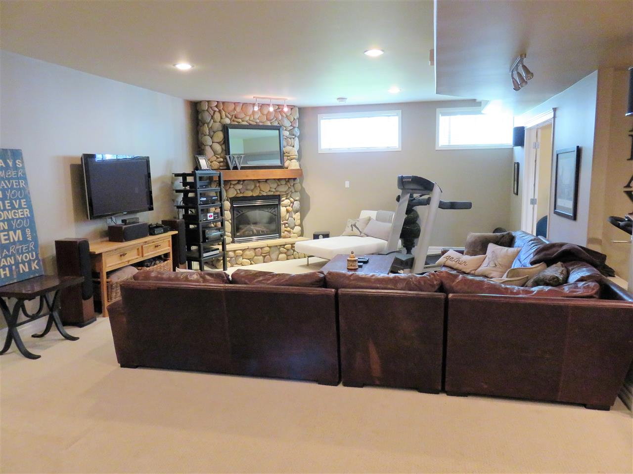 Holy WOW again!! View of the Fully Finished Basement Family Room!