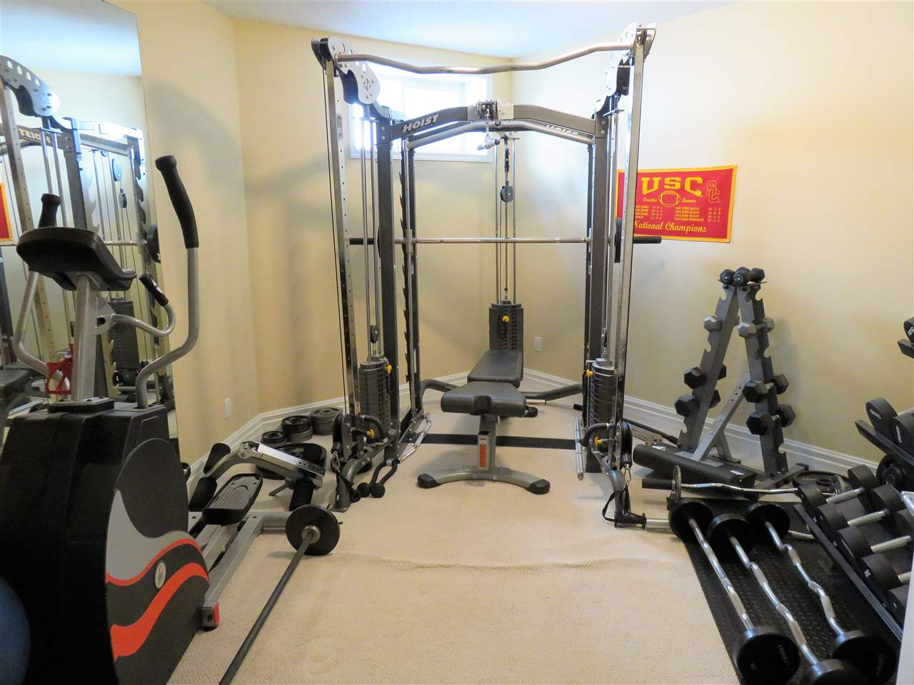WOW! Your very own private GYM! Or it can be converted into the 5th Bedroom as there is a closet in this room! Hummm...