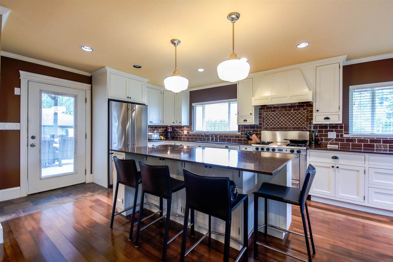 Open kitchen with granite counter top