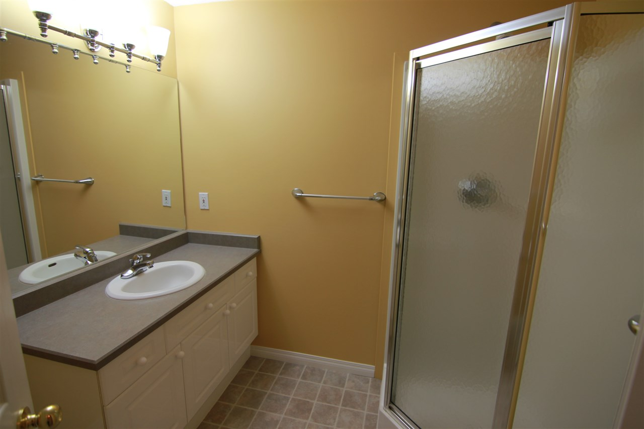The three piece bathroom in the basement