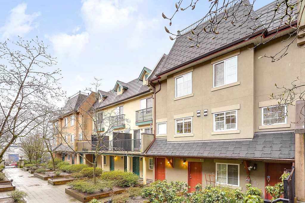 "Main Photo: 19 1561 BOOTH Avenue in Coquitlam: Maillardville Townhouse for sale in ""THE COURCELLES"" : MLS(r) # R2147892"