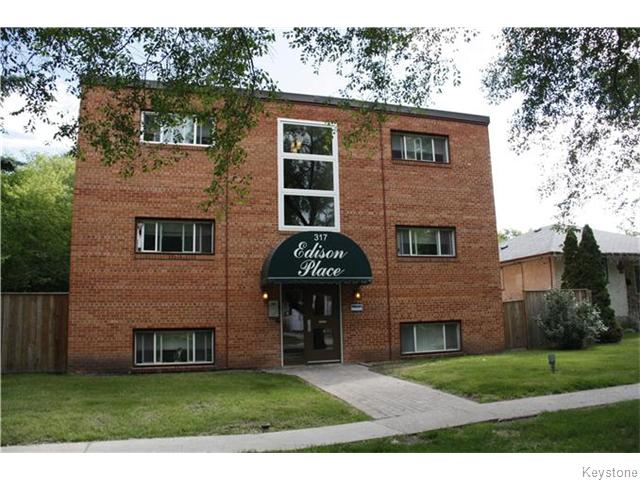 Main Photo: 317 Edison Avenue in Winnipeg: Condominium for sale (3F)  : MLS® # 1624040