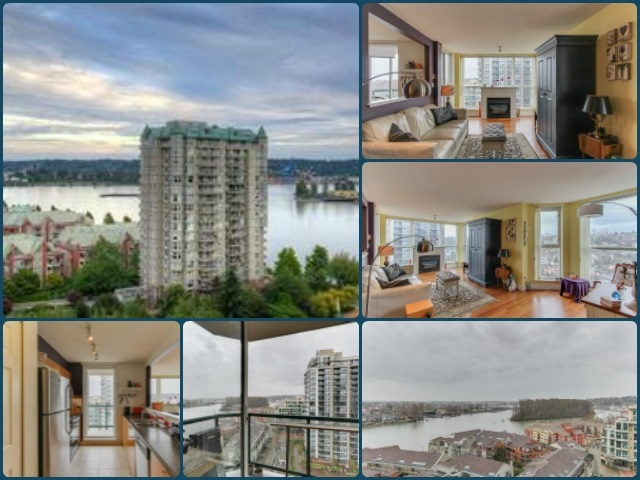 "Main Photo: 1606 10 LAGUNA Court in New Westminster: Quay Condo for sale in ""LAGUNA LANDING"" : MLS® # R2149648"