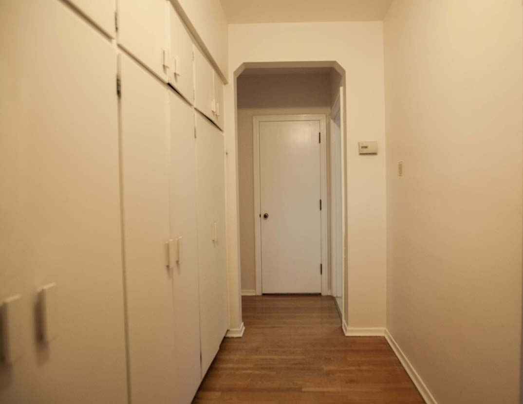 Lots of closet and storage space will make it easier to keep the front hallway neat and tidy.