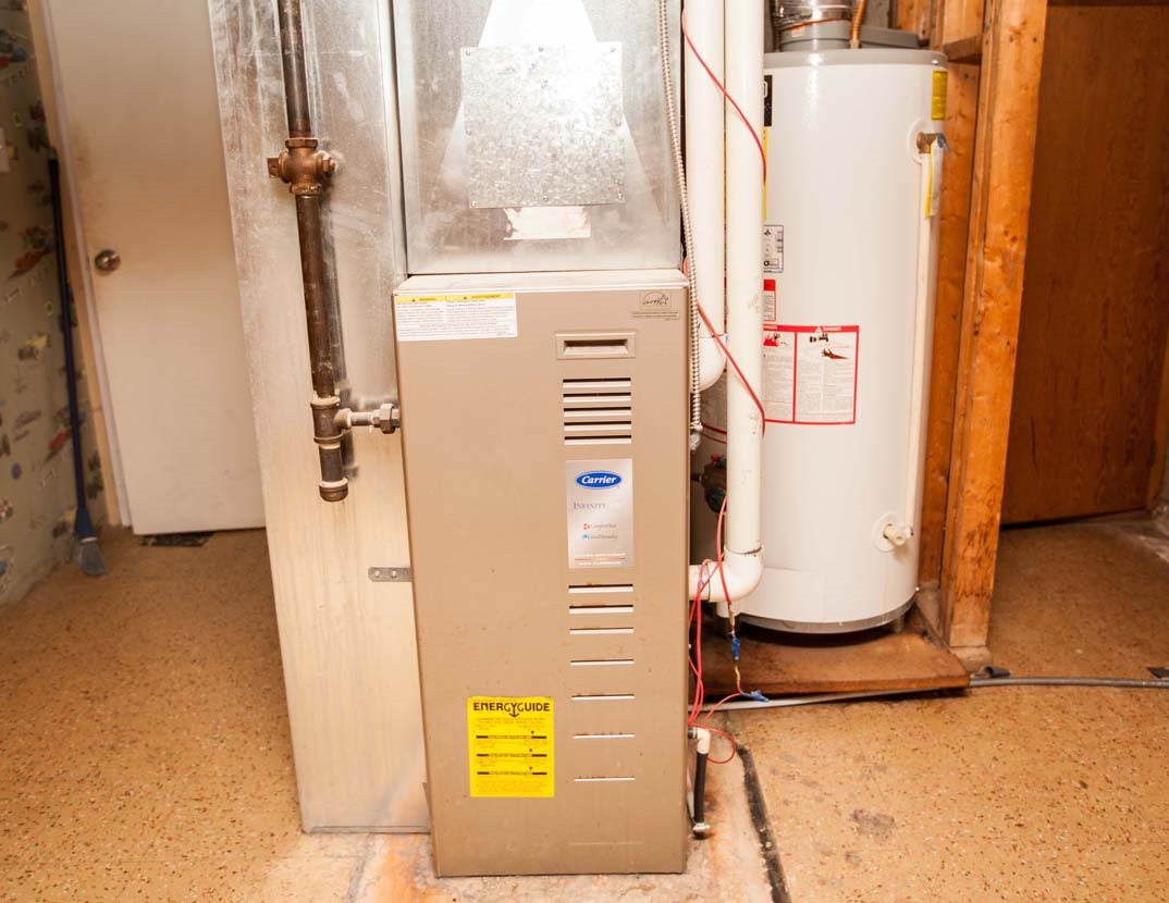 The high efficiency furnace is believed to have replaced by the previous owners in 2008.