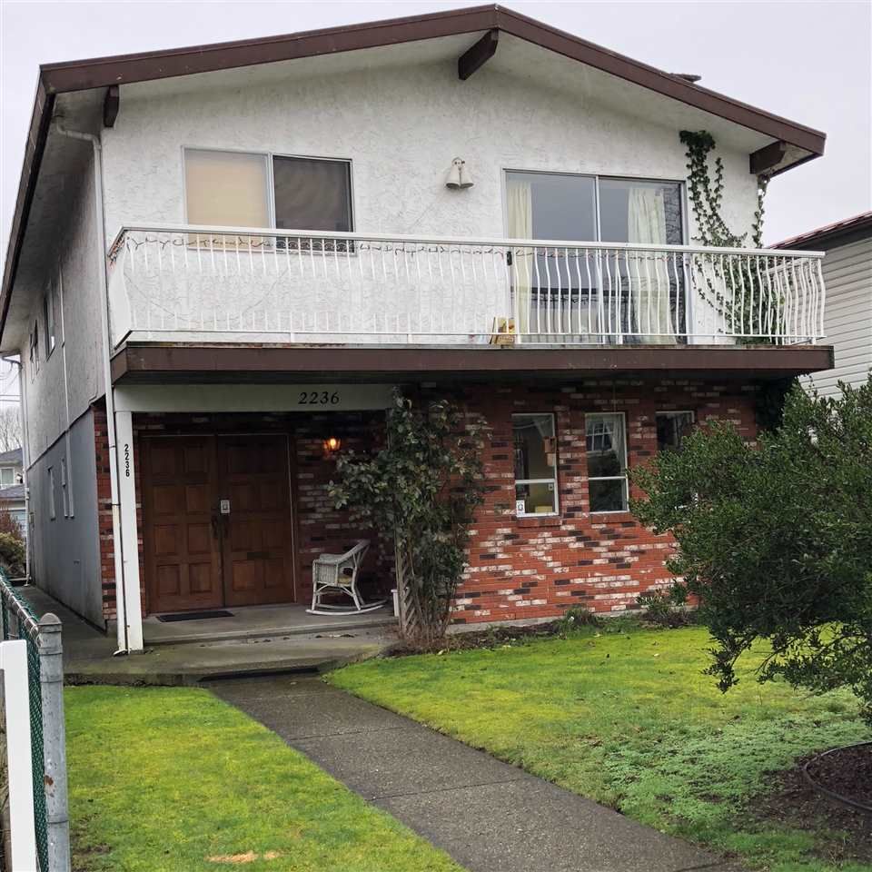 Main Photo: 2236 E 34TH Avenue in Vancouver: Victoria VE House for sale (Vancouver East)  : MLS®# R2244027