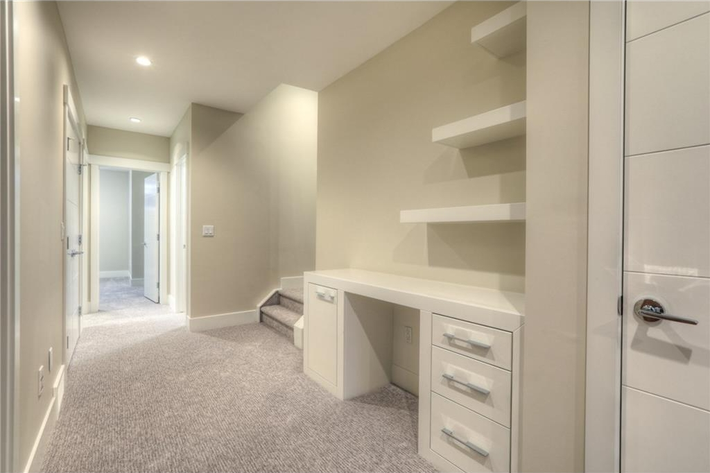 Built-in study nook on lower level.