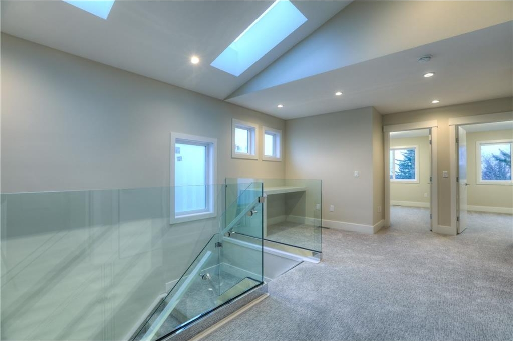 Abundance of natural light in the upper level with skylights and additional windows.