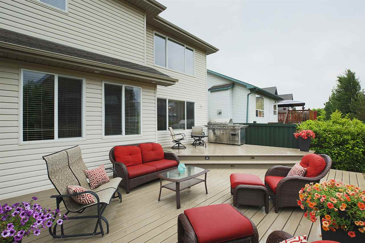 Two-tiered deck - what a great space to entertain and BBQ for friends and family. Party Time!