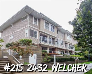 "Main Photo: 215 2432 WELCHER Avenue in Port Coquitlam: Central Pt Coquitlam Townhouse for sale in ""Gardenia"" : MLS®# R2307528"