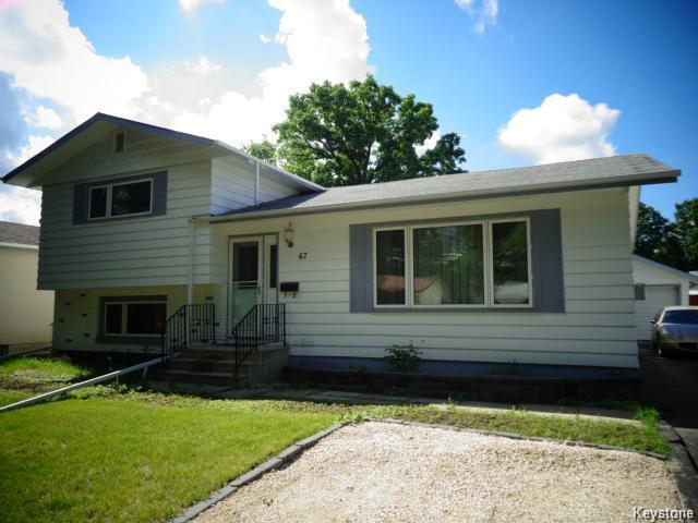 Main Photo: 67 Shakespeare Bay in WINNIPEG: Westwood / Crestview Residential for sale (West Winnipeg)  : MLS® # 1510385