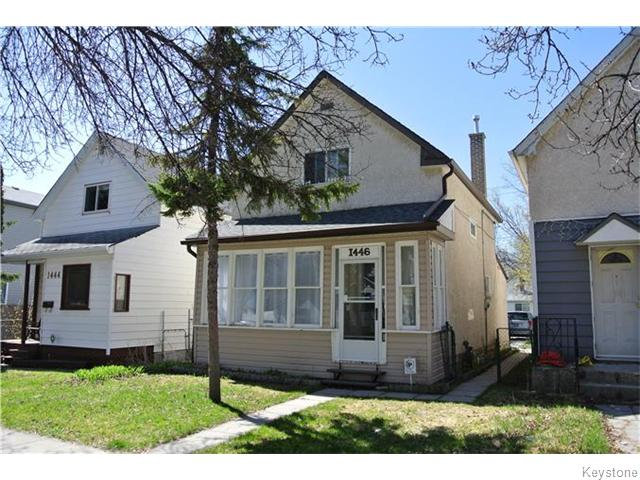 Main Photo: 1446 Bannatyne Avenue West in Winnipeg: Brooklands / Weston Residential for sale (West Winnipeg)  : MLS®# 1611188