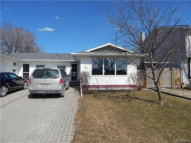 Main Photo: 44 Bluewater Crescent in Winnipeg: Southdale Residential for sale (2H)  : MLS® # 1706219