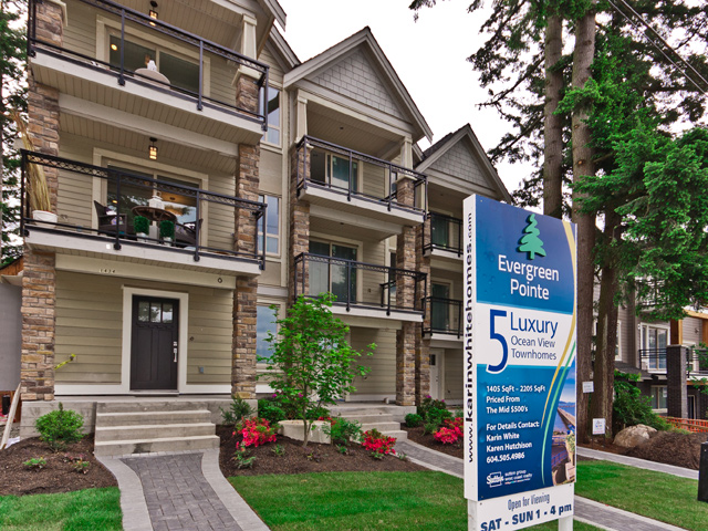 Main Photo: 5 1434 Everall Street in White Rock: Townhouse for sale : MLS®# F1311893