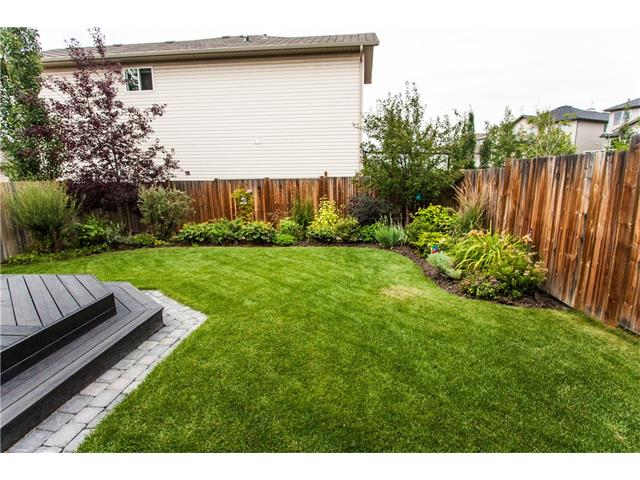 Another view of the fully fenced and landscaped yard