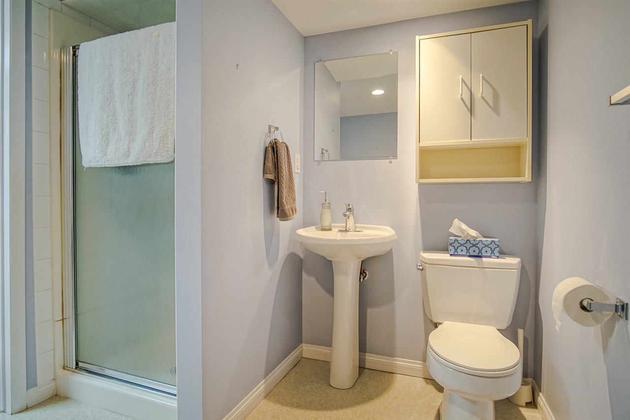 3 pc. bathroom in basement together with the laundry room