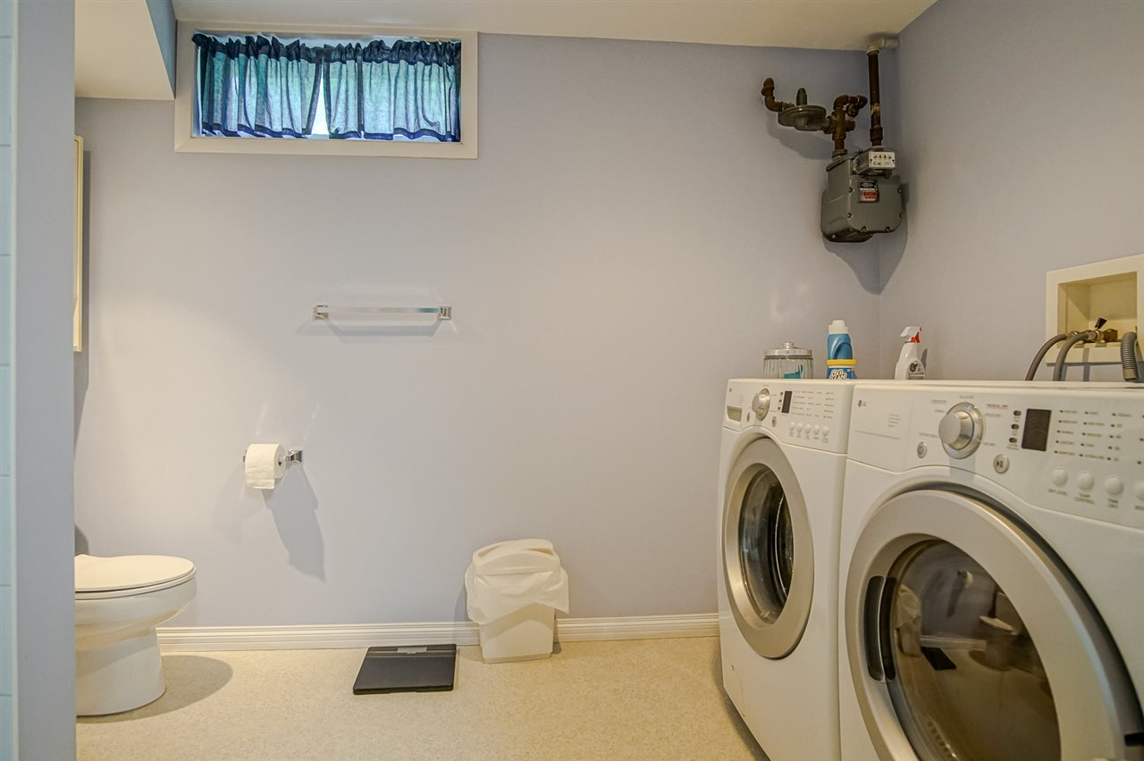 3 Pc. Bathroom in Basement together with the laundry