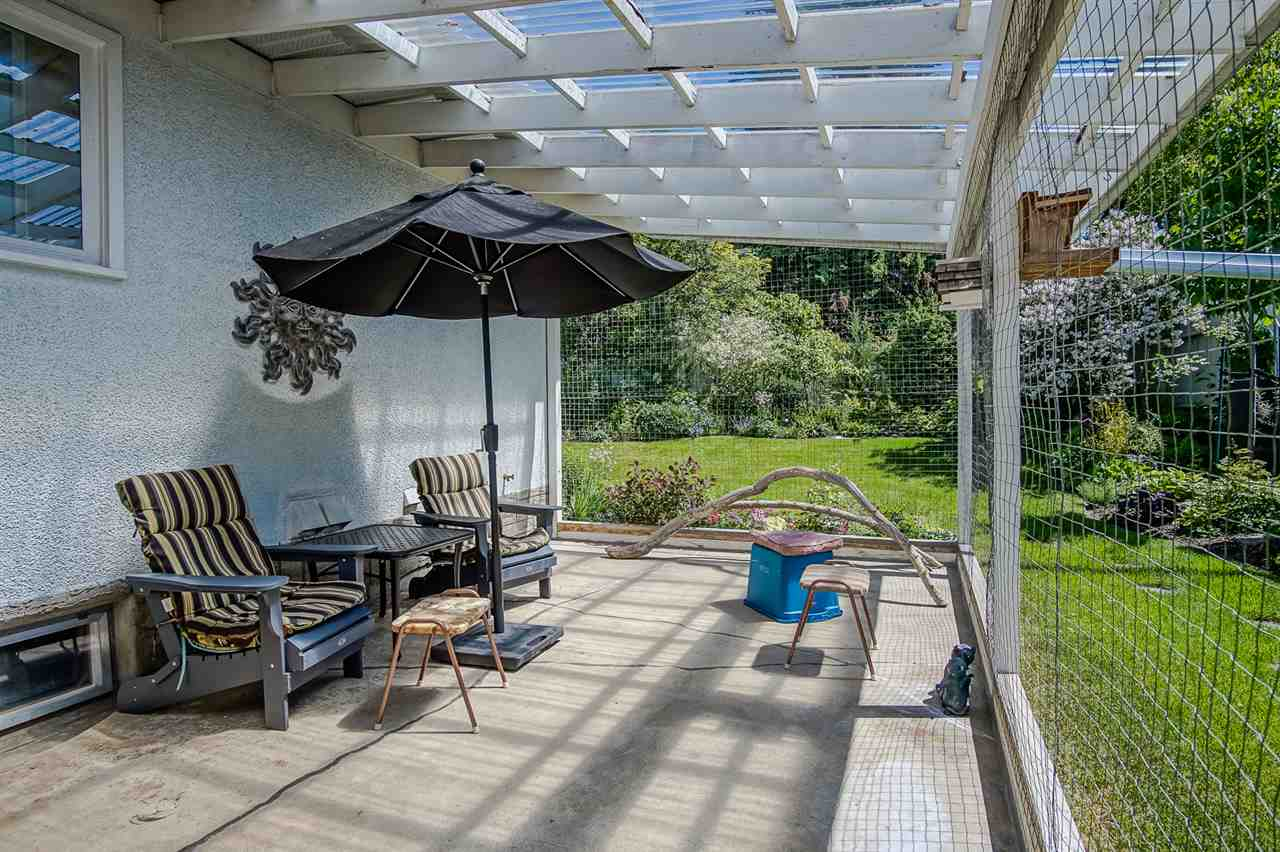 Large Covered Patio to enjoy some Cold Lemonade with your furry cat pets. Wired in so the Cats call it their CATIO.