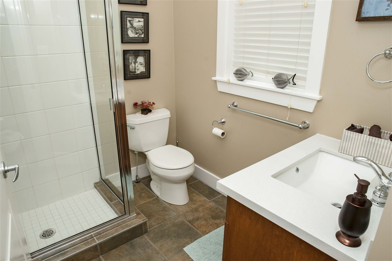 3 pce. bath conveniently located off entry perfect !