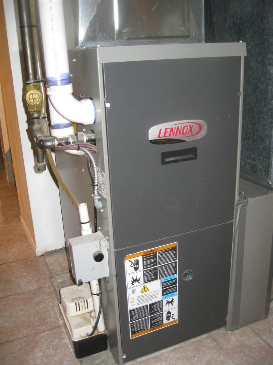It is so nice when the furnace and hot water tank have been replaced.