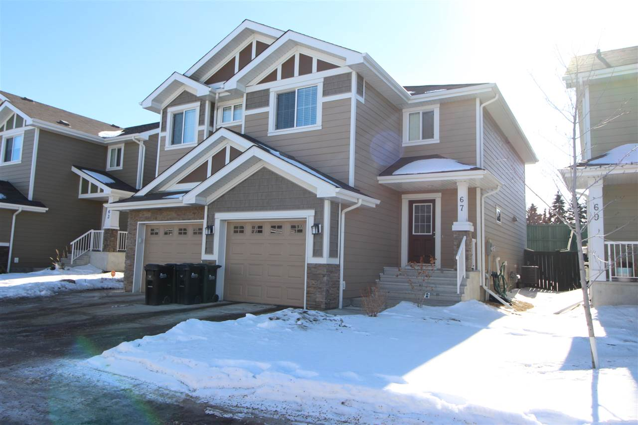 Main Photo: 67 219 Charlotte Way: Sherwood Park House Half Duplex for sale : MLS® # E4098727