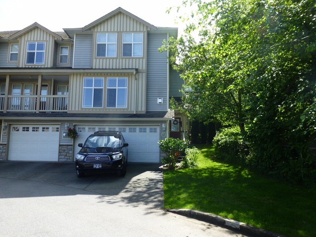 Main Photo: # 12 46906 RUSSELL RD in Sardis: Promontory Townhouse for sale : MLS® # H1301997