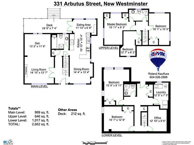 Photo 20: 331 ARBUTUS Street in New Westminster: Queens Park House for sale : MLS® # V1101805
