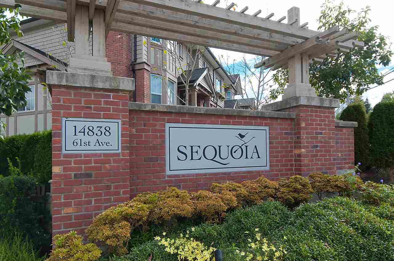 "Main Photo: 82 14838 61 Avenue in Surrey: Sullivan Station Townhouse for sale in ""SEQUOIA"" : MLS® # R2107237"