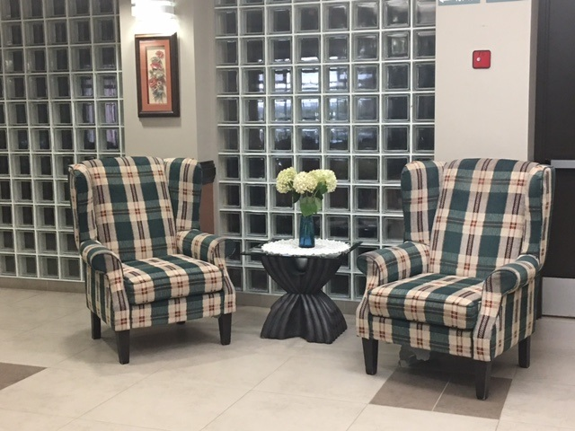 Lobby area is inviting!