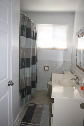 Upstairs Bathroom - the vanity is the only thing that is not new....otherwise it's a brand new bathroom!