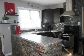 Beautifully renovated kitchen - new backsplash, countertops, paint and appliances